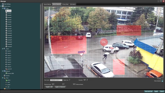 Multi-zone motion detection