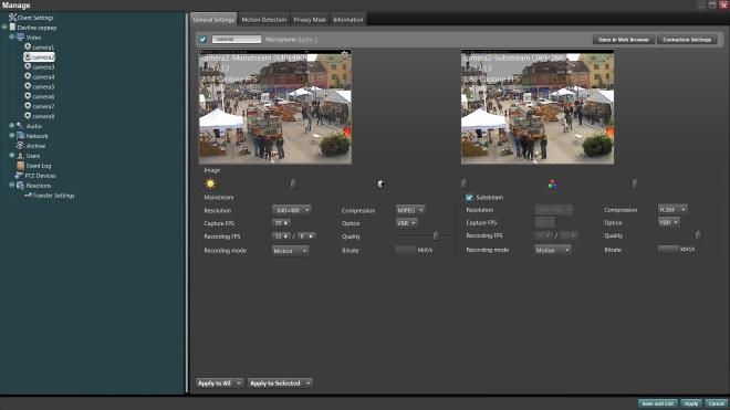 Configure each camera