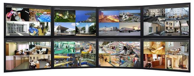 View cameras on multiple monitors simultaneously